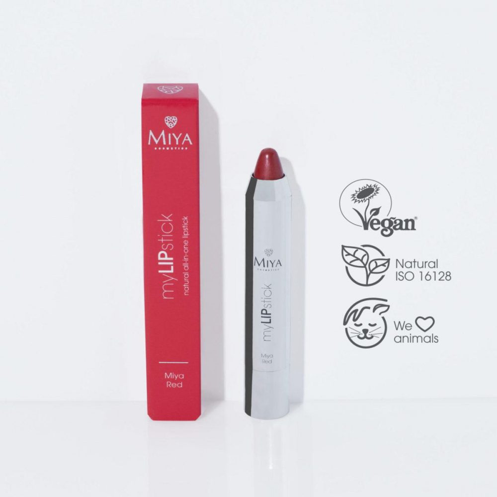 Naturalna pielęgnująca szminka all-in-one, Miya Red