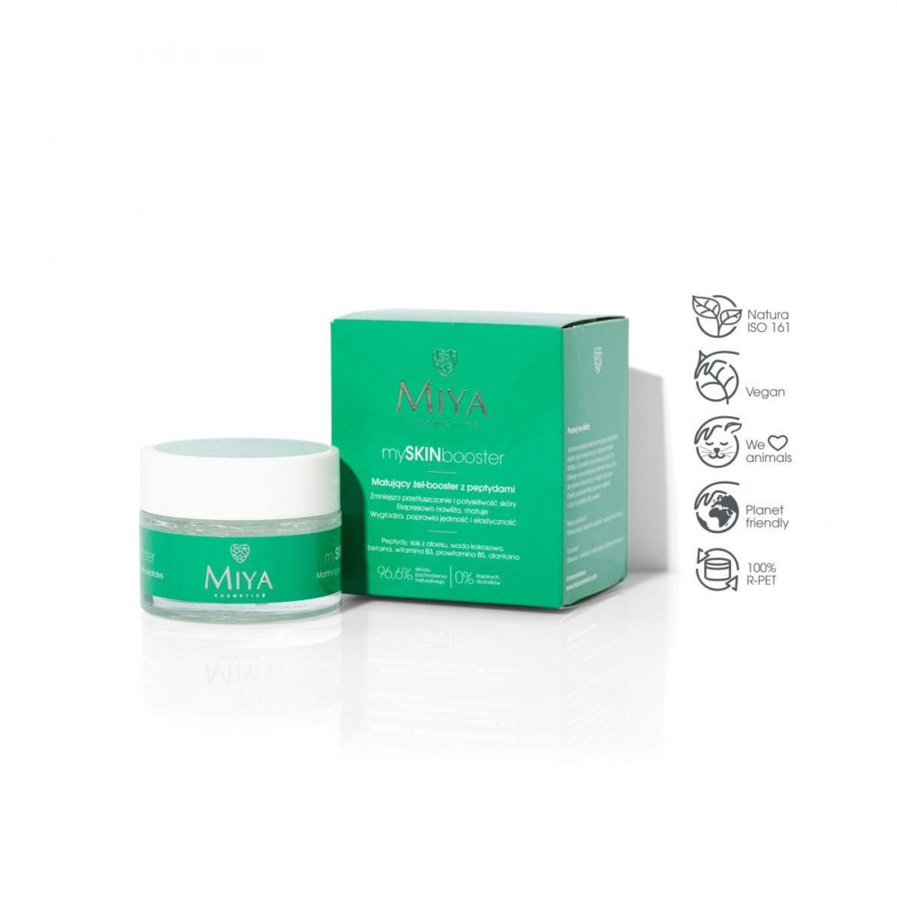 Mattifying gel-booster with peptides