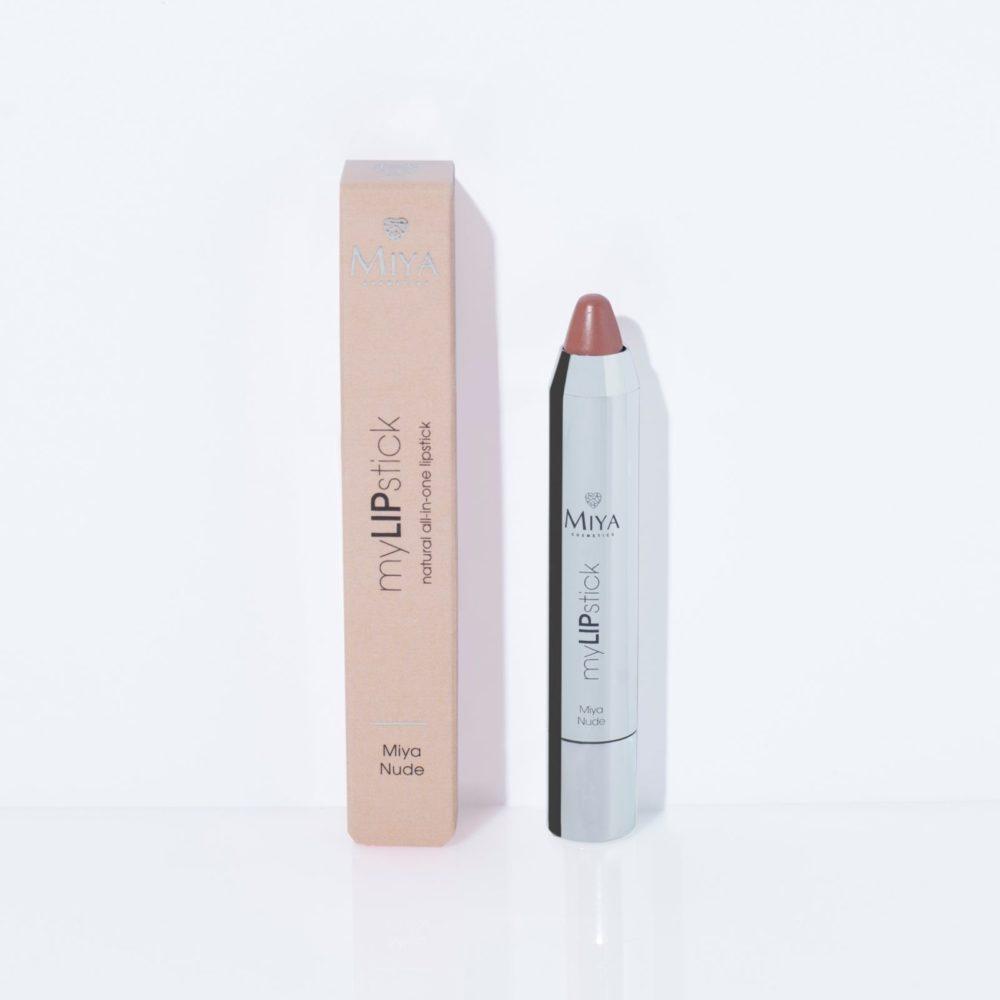 Naturalna pielęgnująca szminka all-in-one, Miya Nude