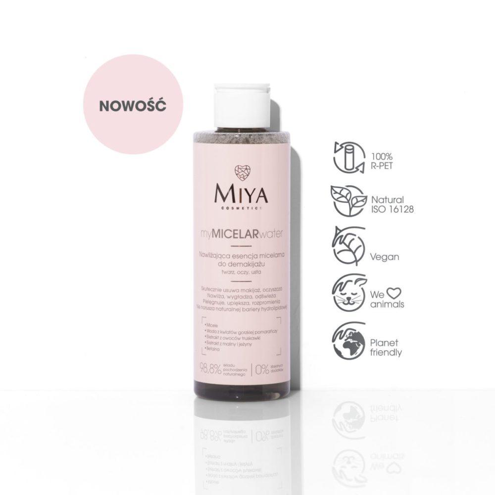 Moisturizing micellar essence for makeup removal