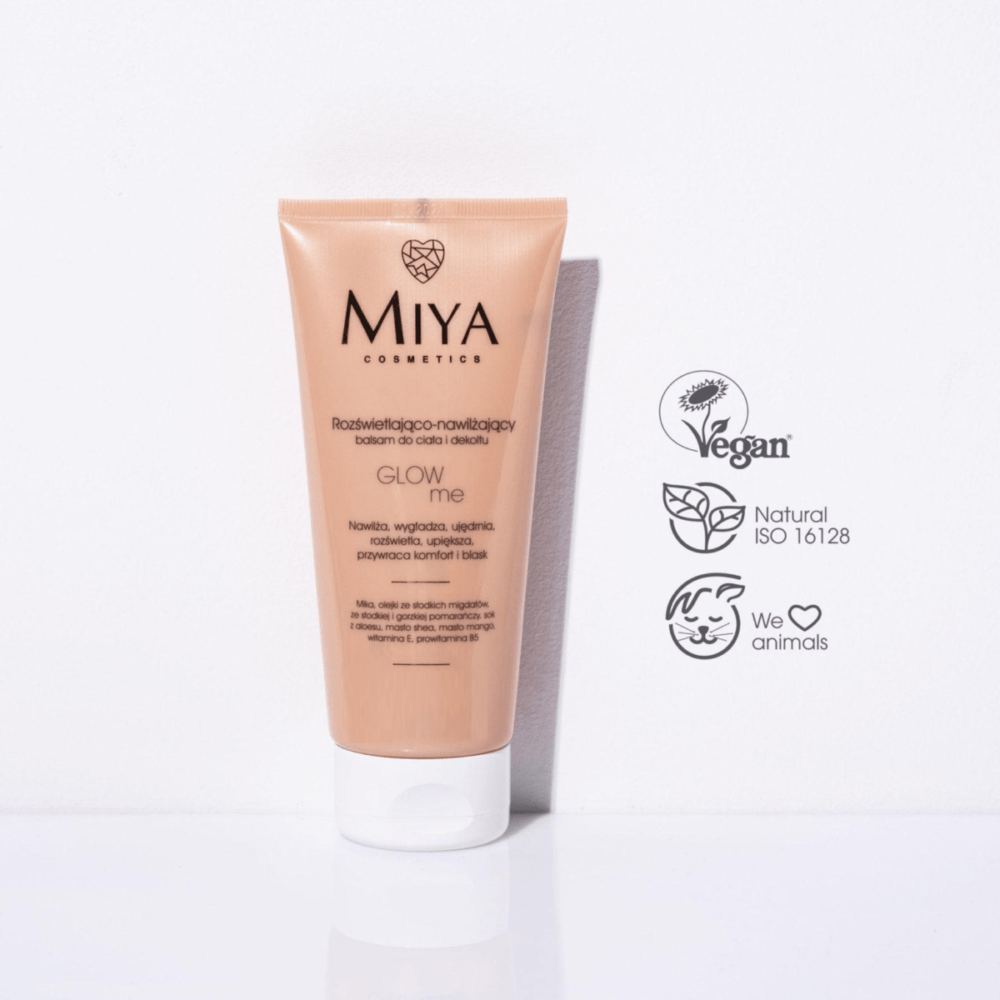 A brightening and moisturizing balm for body and cleavage