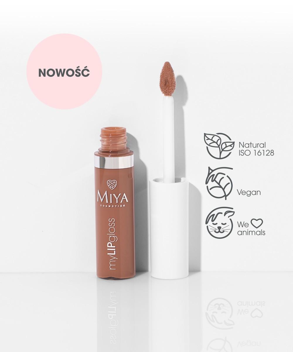 Naturalny nawilżający błyszczyk do ust z olejkami, woskami i witaminami, Miya Nude